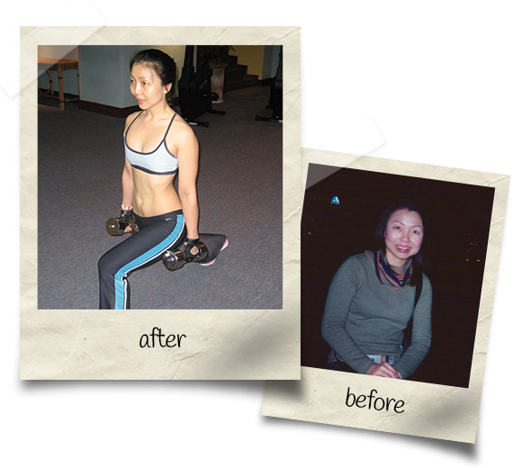 June Koh before & after
